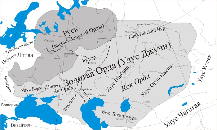 Карта Золотой Орды / Фото: quora.com