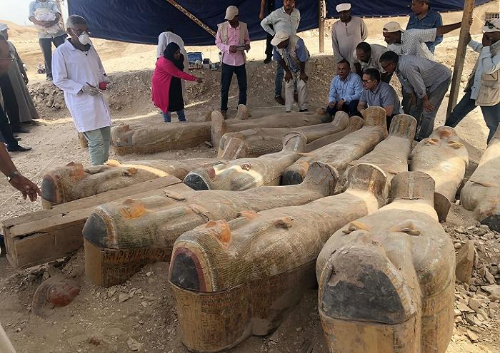 Находка 30 египетских мумий. Луксор, 2019 год / Фото: newatlas.com