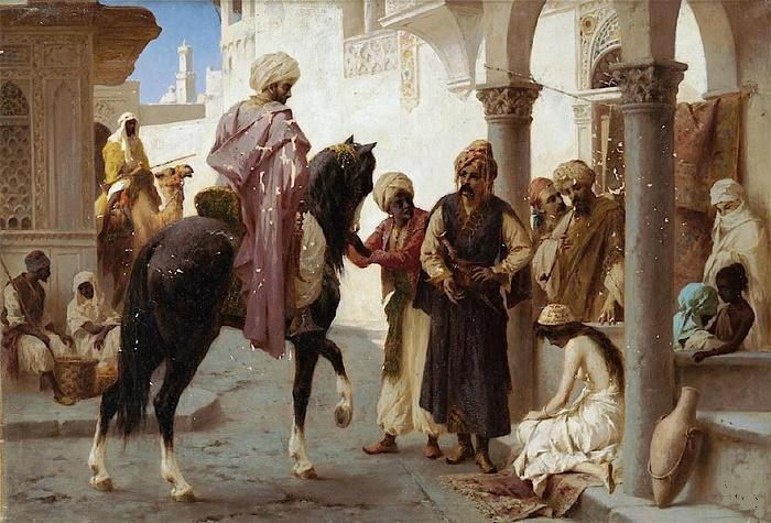 Невольничий рынок в Стамбуле. Фреска XVII века. / Фото: kramola.info