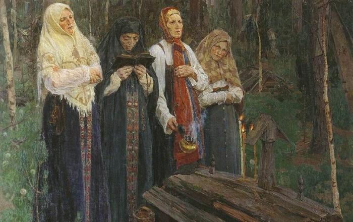 На Руси молитвами провожали покойных / Фото: twitter.com