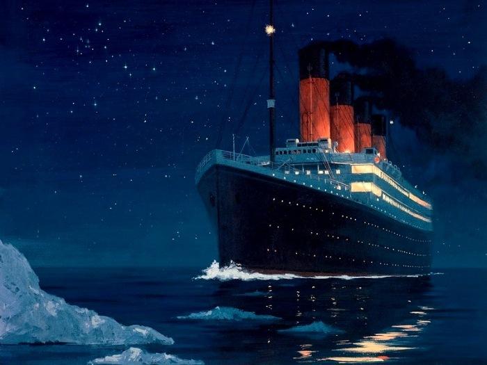 «Титаник»  ушел на дно Атлантики ночью / Фото: malamant.livejournal.com