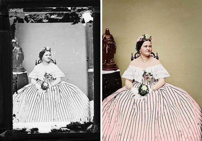 Мэри Тодд Линкольн в ожерелье от Tiffany&Co / Фото: www.wedding-magazine.ru