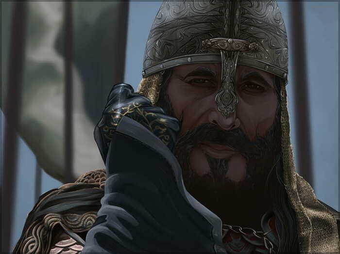 Султан Саладин и его любовь к воде с кубиками льда. / Фото:artstation.com