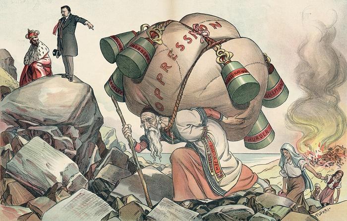 Остановите ваше жестокое угнетение евреев. Карикатура из журнала Judge. 1904 год / Фото: owlcation.com