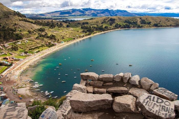 Остров Такиле на озере Титикака. / Фото: touristam.com