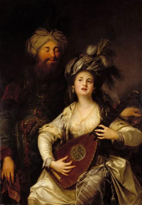 Сулейман и Хюррем (Роксолана), художник Антон Хикель, 1780 год / Фото: al-monitor.com