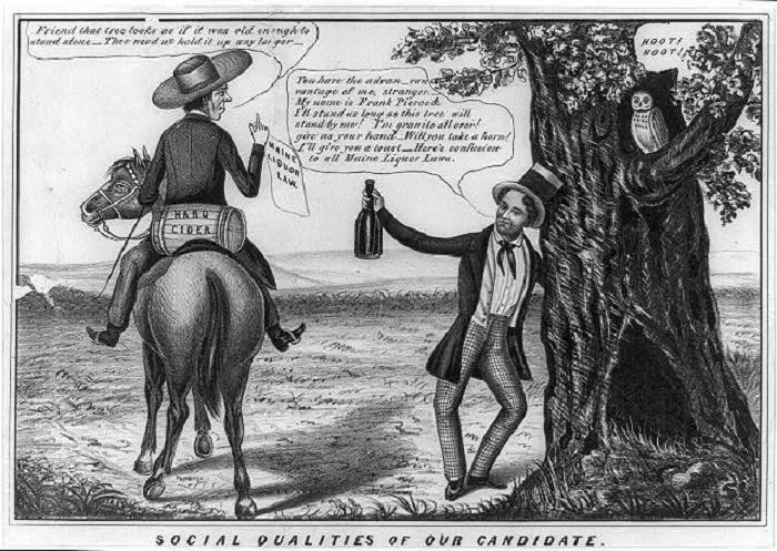 Карикатура на Франклина Пирса, 1853 год / Фото: gettyimages.com
