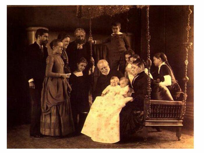 Чарльз Льюис Тиффани с семьёй / Фото: slideplayer.com