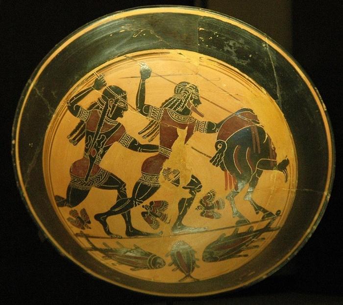 Лаконская ваза с изображением охоты. Лувр / Фото: wikipedia.org
