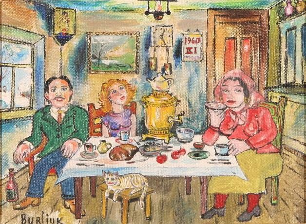 Давид Бурлюк «Чаепитие», 1960 год / Фото: www.wikiart.org