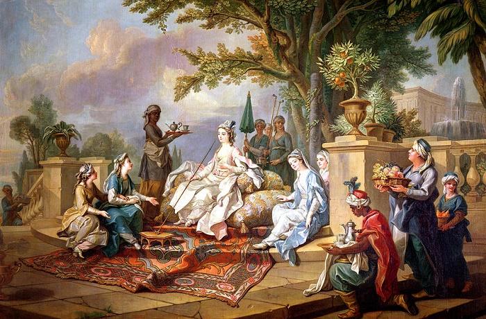 Шарль Амадей Филипп Ван Лоо. «Женщины гарема и слуги-евнухи». 1773 год / Фото: fineartamerica.com