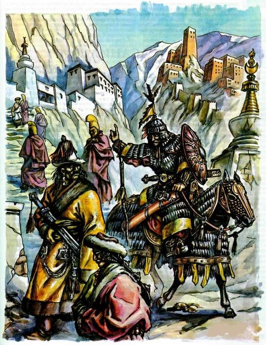 Монгольская армия завоевывает Тибет / Фото: topwar.ru
