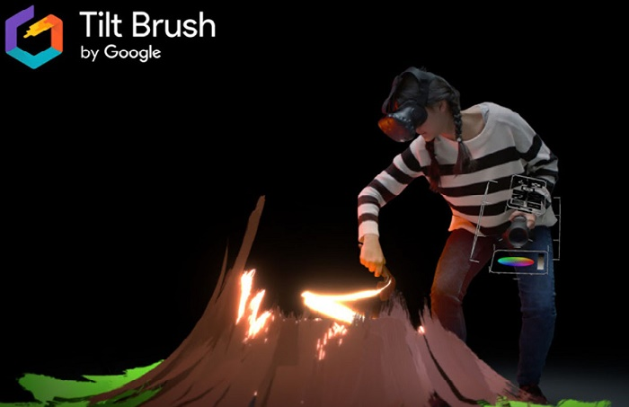 Программа Tilt Brush от Google / Фото: blog.google