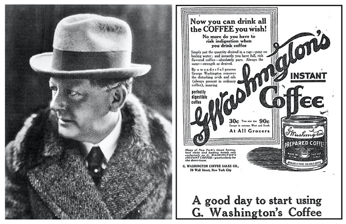 Джордж Констант Вашингтон и реклама его кофе в The New York Times, 23 февраля 1914 года / Фото: was.media.com