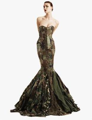 Платье из 28 армейских жакетов