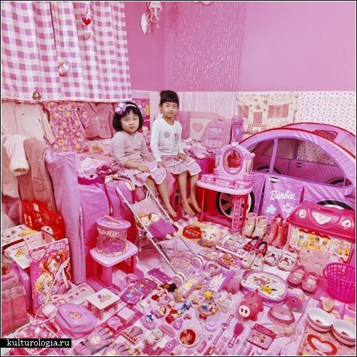 «Розово-голубой» проект от фотографа JeongMee Yoon