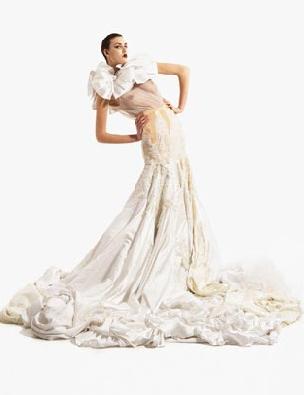 Платье из 10 свадебных платьев