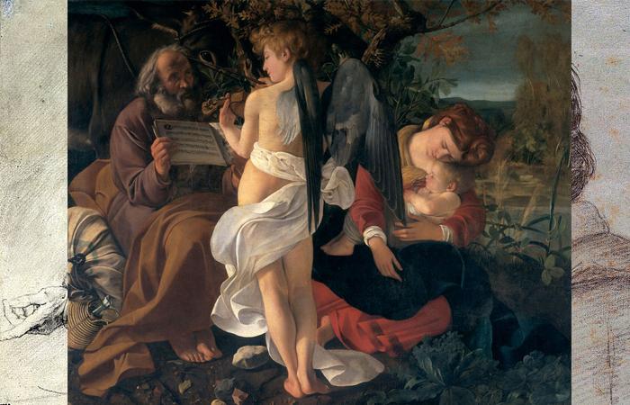 Караваджо «Отдых на пути в Египет» (1597)