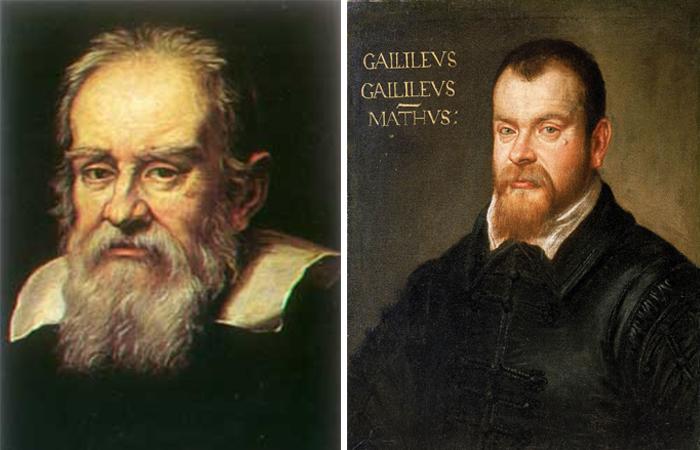 Галилей на портрете 1636 года работы Ю. Сустерманса  / Доменико Тинторетто. Портрет Галилео Галилея, 1605—1607