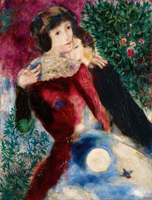 Марк Шагал. «Любовники». 1928.