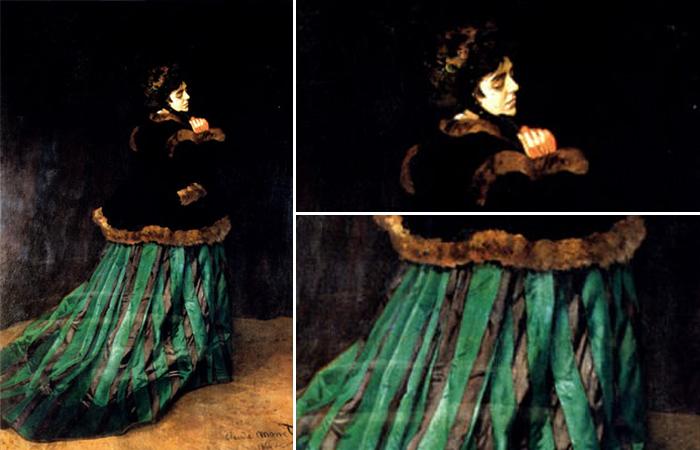 Женщина в зеленом платье