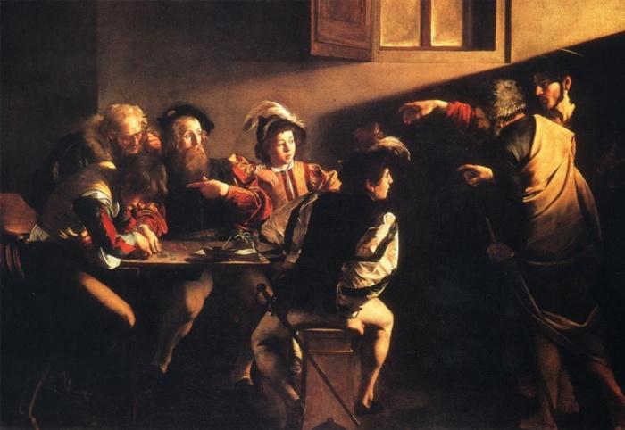 Караваджо. Призвание апостола Матфея, 1599