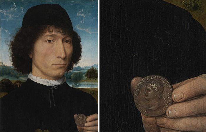 Ганс Мемлинг «Портрет мужчины с римской монетой» (до 1480, Антверпен)