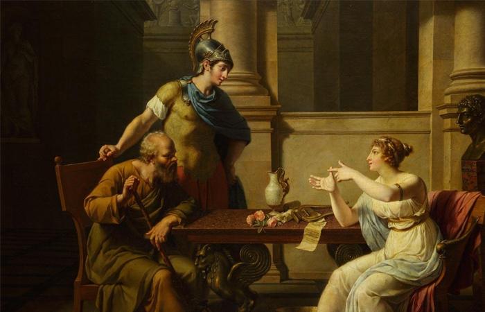 Николя-Андре Монсьо «Сократ у Аспазии» / Фото: pushkinmuseum.art