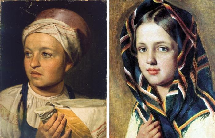 Девушка с крынкой молока / Девушка в платке