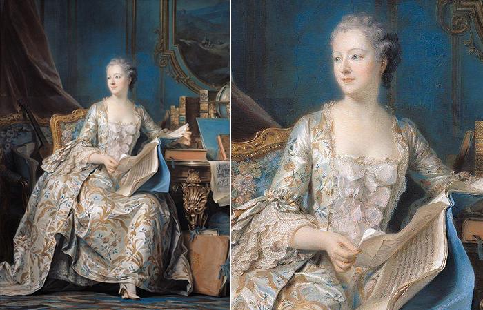 Морис-Квентин де Ла Тур «Портрет мадам де Помпадур», 1755, Париж, Лувр