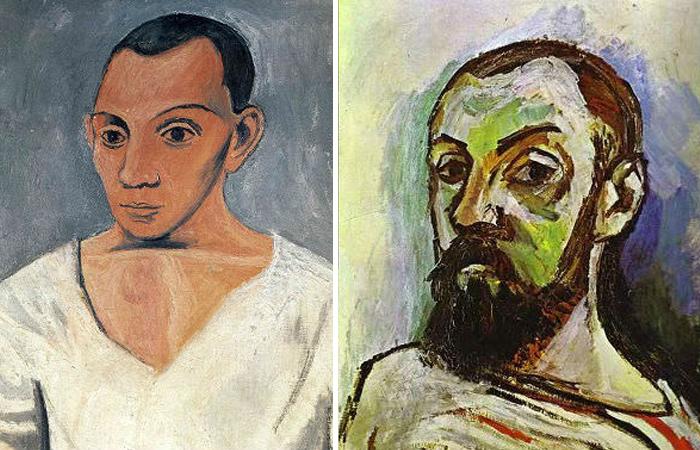 «Автопортрет с палитрой» Пикассо и «Автопортрет» Матисса