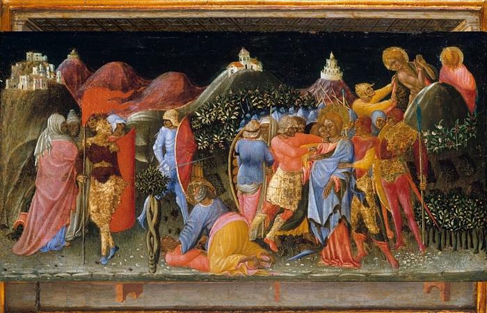 Бартоломео ди Томмазо «Предательство Христа» Италия, до 1425 года / Фото: artcyclopedia.com