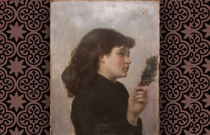 «Вербное воскресенье» (салон 1885 г.), Викторина Мёран. Большинство её полотен и рисунков считаются сегодня утерянными, однако в 2004 эта картина была обнаружена и находится сейчас в историческом музее Коломба.