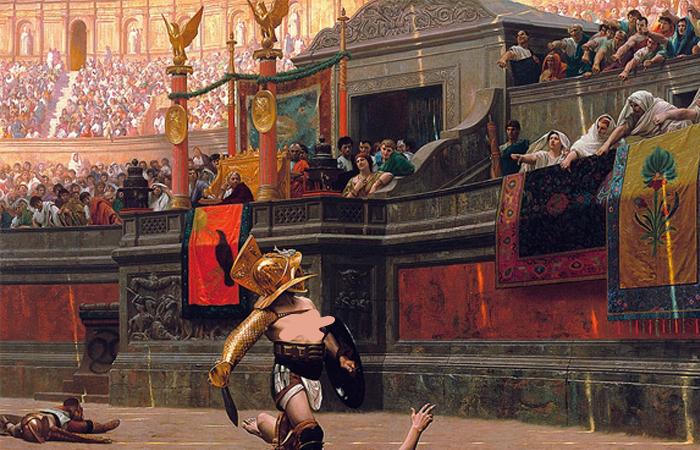 «Pollice verso» («Пальцы вниз») картина французского художника Жана-Леона Жерома (1872) / Фото: artstation.com