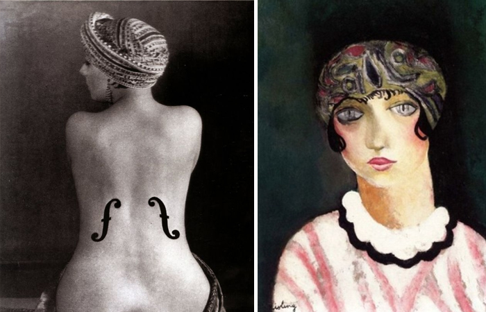Фотография Ман Рэя «Скрипка Энгра» / М. Кислинг «Кики с Монпарнаса», 1924