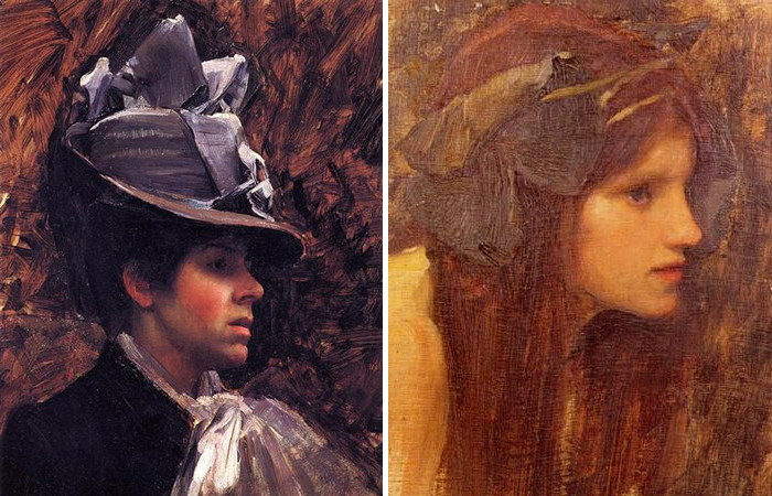 Работы Уотерхауса: Портрет Эстер Кенуорти (1885) и «Русалка» (1900)