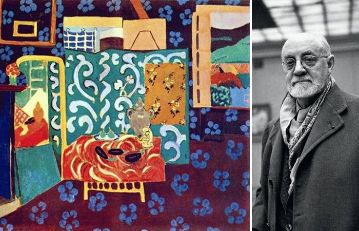 Анри Матисс «Интерьер с баклажанами» (1911) и фото Матисса