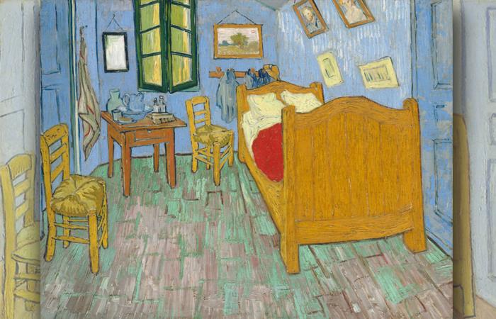 «Спальня в Арле», Вторая версия, сентябрь 1889 г. Холст, масло, 72 x 90 см, Художественный институт Чикаго.