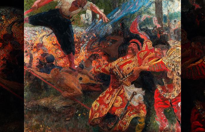 Картина Илья Репина «Гопак» (1926-1930)