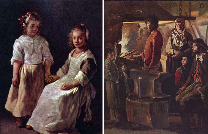 Работы братьев Ленен «Две девочки» / «Кузница»