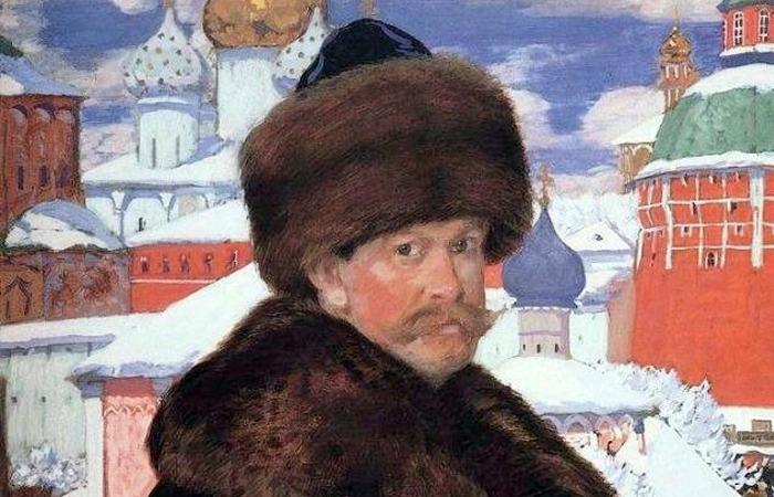 Борис Кустодиев, «Автопортрет» (фрагмент), 1912 г.