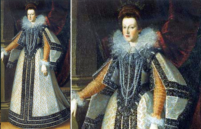 «Мария де Медичи» Пьетро Факкетти, ок. 1595, Палаццо Торрес-Ланселотти, Рим.