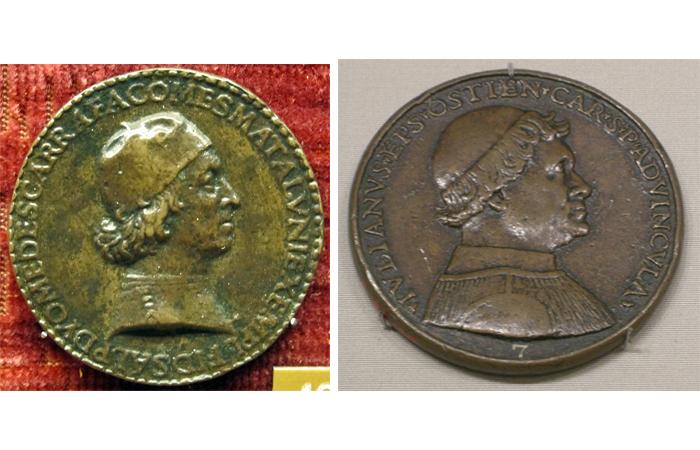 Медали Джованни Кандиды: «Медаль Диомеда Карафа» и «Медаль Джулиано делла Ровере», 1495 г.
