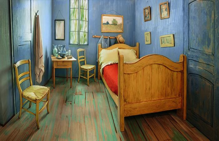 Реальный прообраз «Спальни» Ван Гога (номер расположен в районе Ривер-Норт, Чикаго) / Фото: news.artnet.com