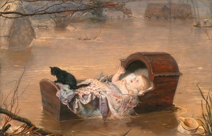 Джон Эверетт Милле «Наводнение», 1870. Манчестерская художественная галерея