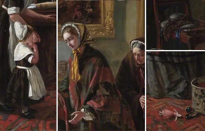 Эмма Браунлоу «Подкидыш возвращается к матери» (1858 год), фрагменты