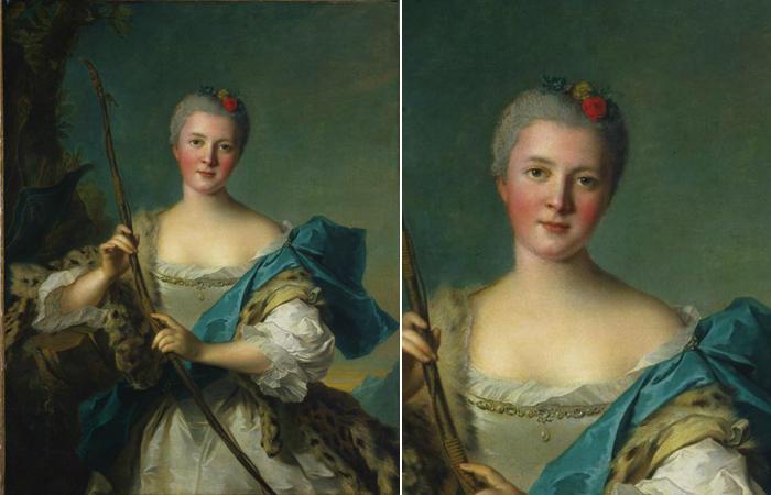 Жан-Марк Наттье «Мадам де Помпадур в роли Дианы», 1752, Кливленд, Кливлендский художественный музей