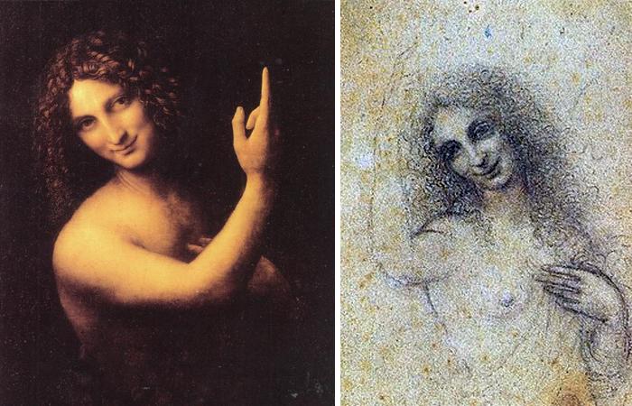 Работы Леонардо: «Иоанн Креститель» и «Ангел во плоти»