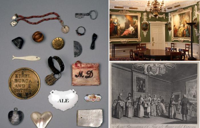 Воспитательный дом Томаса Корама в Лондоне. Фотографии интерьера и опознавательные предметы, которые оставляли матери.