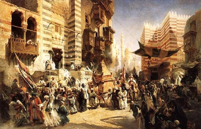 «Перемещение ковра Мухаммеда из Мекки в Каир» (1875) / источник: bibliotekar.ru